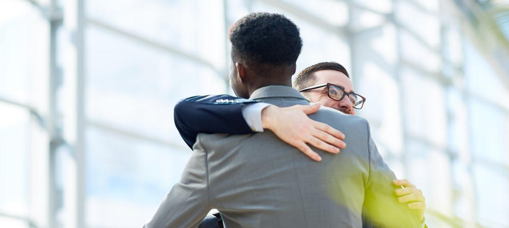 Would you hug your co-workers or clients?