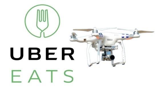 Is it a bird? Is it a plane? Nope, it's my Uber eats.